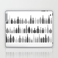 Bottles Black and White on White Laptop & iPad Skin