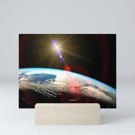 Earth outer space lens flare Mini Art Print