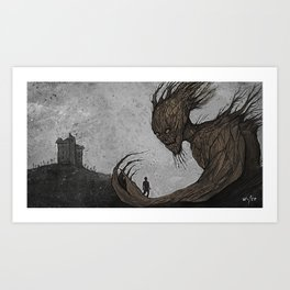 A monster calls Art Print