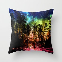 One Magical Night ( Rainbow ) Throw Pillow