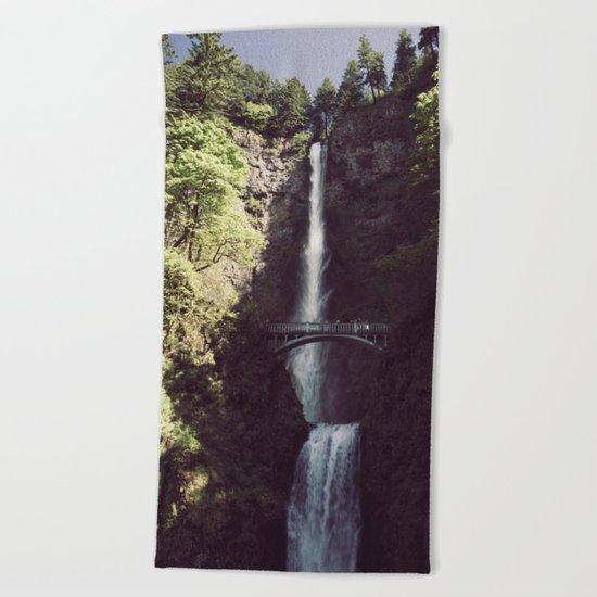 Multnomah Falls Waterfall Beach Towel