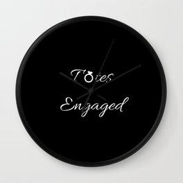 Totes Engaged Wall Clock