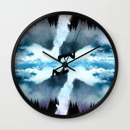 Two Worlds One Heart Wall Clock