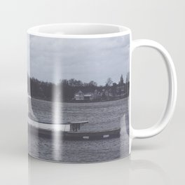 Little white boat in New England Coffee Mug