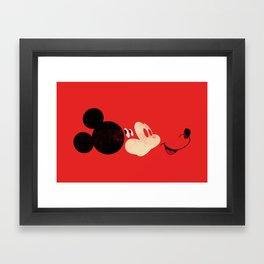 Deconstructing Mickey Framed Art Print