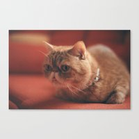 hunting Canvas Prints featuring hunting by Catalina Matei