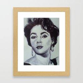 LIZ TAYLOR Framed Art Print