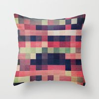 quilt Throw Pillows featuring quilt n2 by spinL