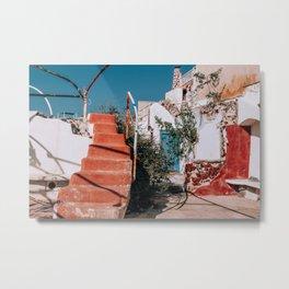 No Trespassers | Santorini, Greece Metal Print