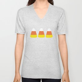 Candy Corn Jumble (black background) Unisex V-Neck