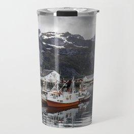 Lofoten Islands, Norway Mountain Landscape Travel Mug