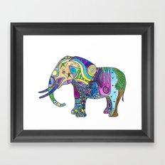 Elephant Profile Framed Art Print