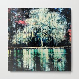 White in the Forest Metal Print