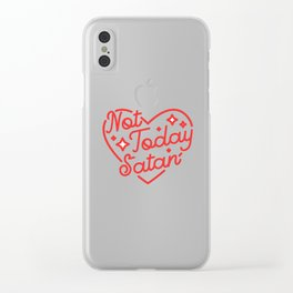 not today satan II Clear iPhone Case