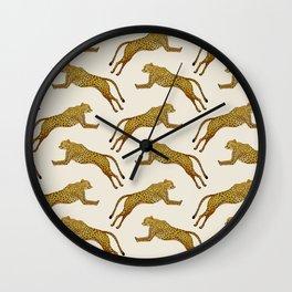 Two cheetahs   Yellows and black Wall Clock