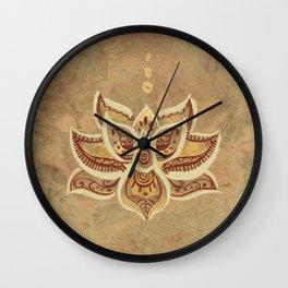 Loto Flower Wall Clock