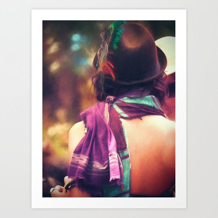 Festival Style | Feathered Hat Art Print