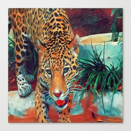 Jaguar in Motion Canvas Print