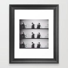 Folk Trio, Los Angeles, March 5, 2016 Framed Art Print