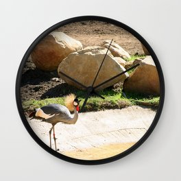 East African Crowned Crane Wall Clock