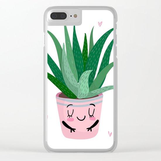Aloe Vera Clear iPhone Case