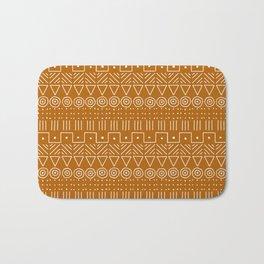 Mudcloth Style 1 in Orange Bath Mat