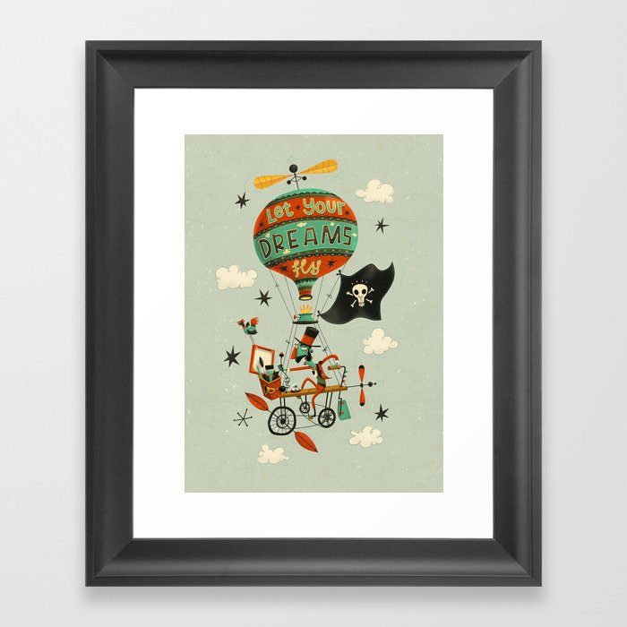 Make Your Dreams Fly Framed Art Print