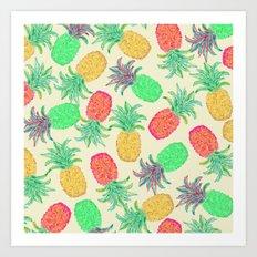 Pineapple Pandemonium (multi) Art Print