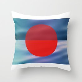 sunset over Japan Throw Pillow