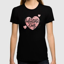 Happy Valentine's Day Typography T-shirt