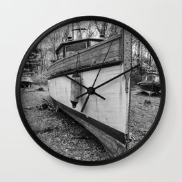 Abandoned Fishing Boats Wall Clock