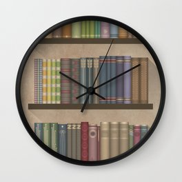 The books you borrowed – light Wall Clock