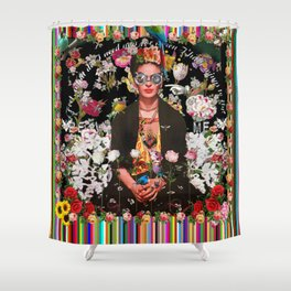 Frida OTT Kahlo You Are Too Much Shower Curtain