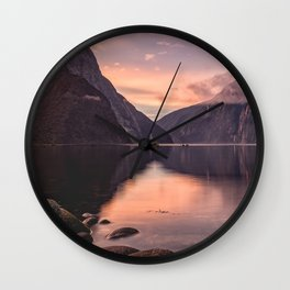 Milford Sound, New Zealand Wall Clock