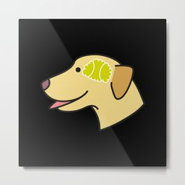 Tennis ball brain Metal Print