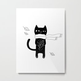 Black Cat Metal Print