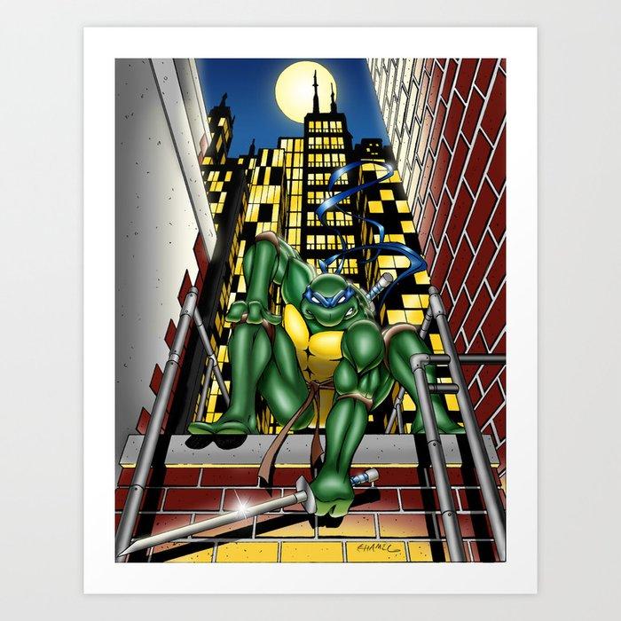 TMNT: Leo in the City Art Print