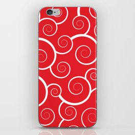 Spiral Waves (Red) iPhone Skin