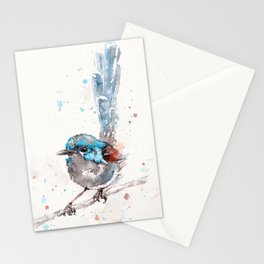 Mischief In The Making (Variegated Fairy Wren) Stationery Cards