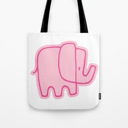 baby pink elephant Tote Bag