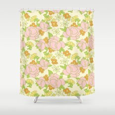 vintage 5 Shower Curtain
