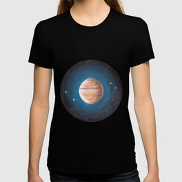 Solar System: Jupiter the Gas Giant & some of the Moons T-shirt