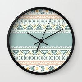 Colorful Geometric Boho Style 1 Wall Clock