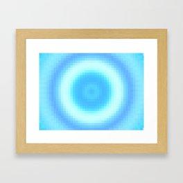 Ripple V Pixelated Framed Art Print