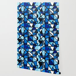 Blue Geometric Wallpaper
