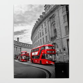 London Busses Poster