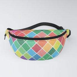 Watercolor Geometric Pattern II Fanny Pack