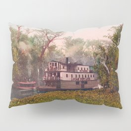 Steamboat On The Ocklawaha - Florida - 1902 Photochrom Pillow Sham