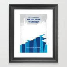 No651 My The Day After Tomorrow minimal movie poster Framed Art Print