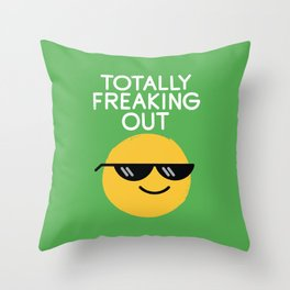 Froze Colored Glasses Throw Pillow